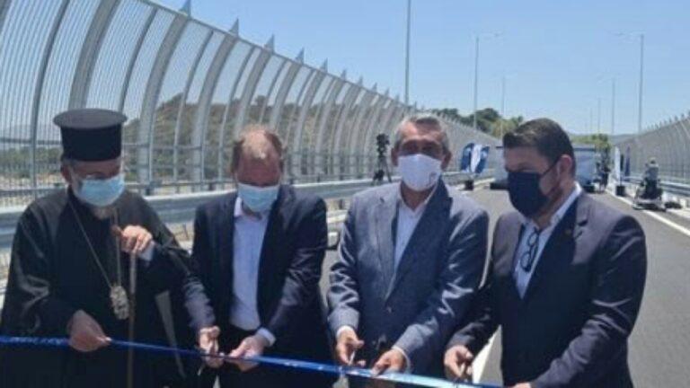 Ρόδος: Καραμανλής και Χαρδαλιάς εγκαινίασαν τη νέα γέφυρα του ποταμού Μάκκαρη